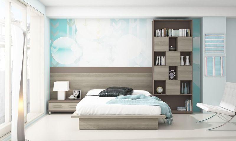 Quarto juvenil acqj094 arty classe mobili rio infantil for Habitaciones juveniles con cama grande